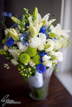 bridal bouquet closeup