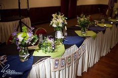 bridal party receiption table